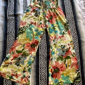 Wide legged floral pants from Wet Seal